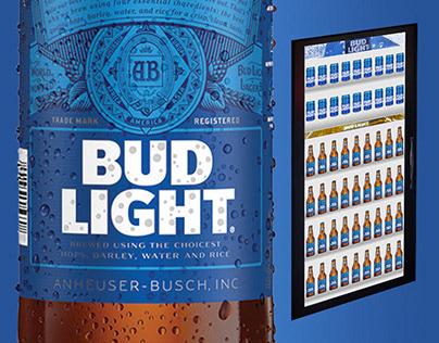 Bud Light Cooler Screens