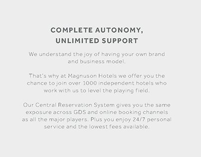 Magnuson Hotel - Independant Brochure