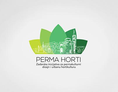 PERMA HORTI logo design