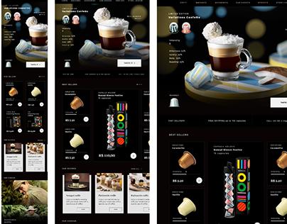 UI Case Study (Responsive + Mobile First): Nespresso