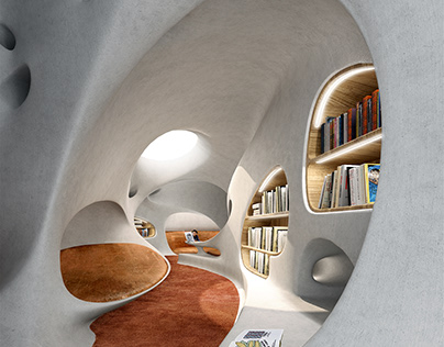 Wormhole Library by MAD Architects