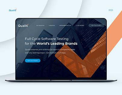 B2B company Landing page design