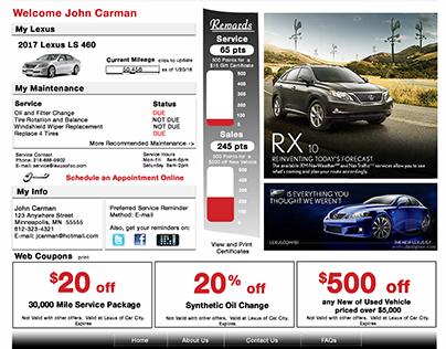 web / automotive / service