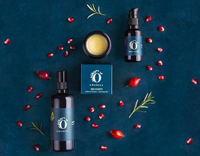 Omorfia branding and packaging