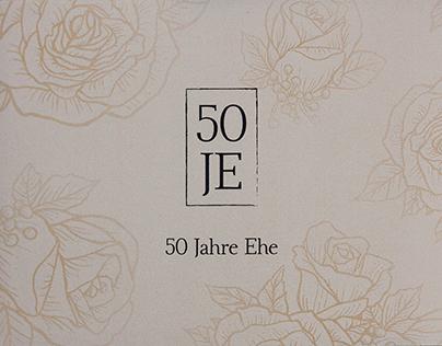 Goldene Hochzeit | Einladung & Hochzeitsbuch (wedding)