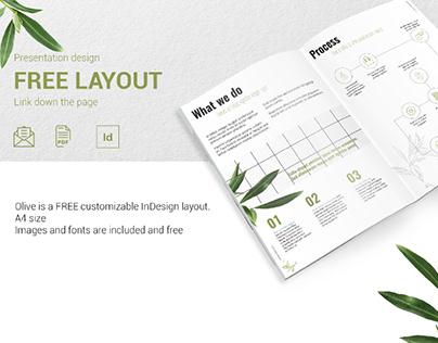 OLIVE - FREE PRESENTATION DESIGN LAYOUT