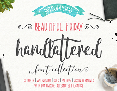 Beautiful Friday Typeface