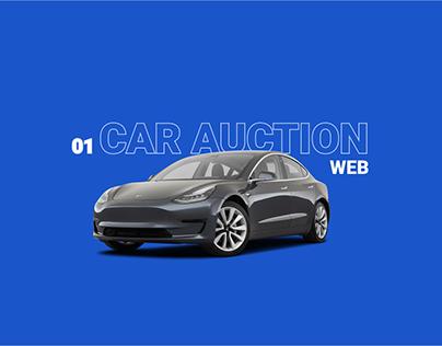 WEB CONCEPT DESIGN FOR CAR AUCTION