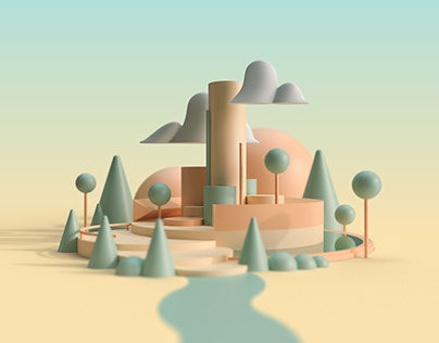 Geometrical cityscape