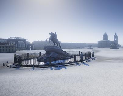 Izvozchik. Old Saint-Petersburg.