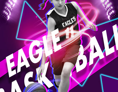 Basketball sports poster
