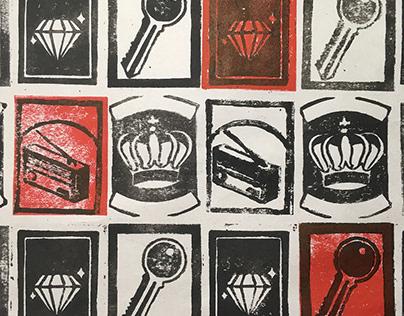 Matchbox Pattern Print