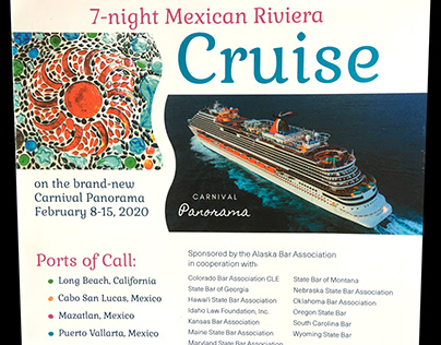 Cruise brochure for legal continuing education