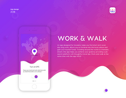 App design | Work&Walk for travelers - 2018