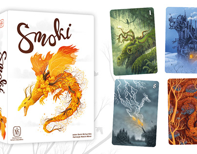Illustrations for the card game The Dragons.