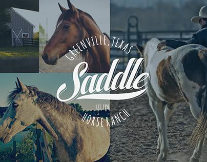 Saddle Horse Ranch Logo Design