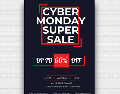 Cyber Monday Sale Flyer Design-2