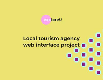 ExploreU website interface