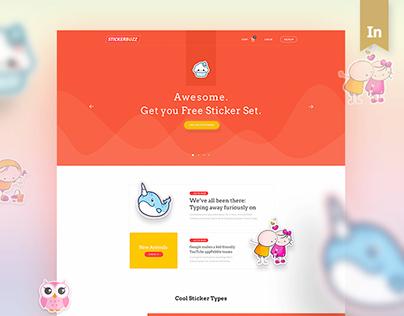 Stickerbuzz: Creative E-Commerce Website Design Concept