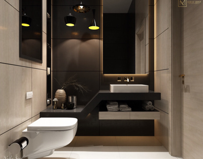 Guest bathroom design in Kuwait