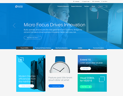 Micro Focus Website Redesign