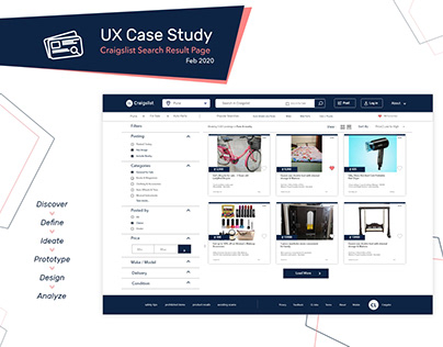UX Case Study   Craigslist - Feb 2020