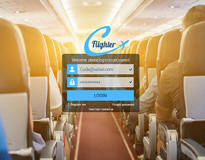 Flighter Online travel and related services.