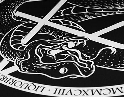 Serpent Pentagram - Liquorbrand