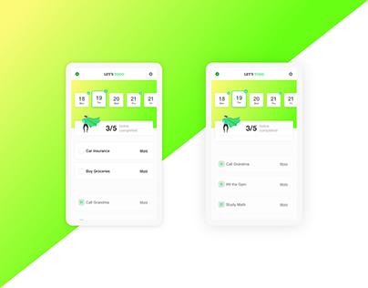 TODO iPhone App | Gradient | Bright | Simple App
