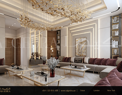 Luxurious and Modern Style Majlis Design by ALGEDRA