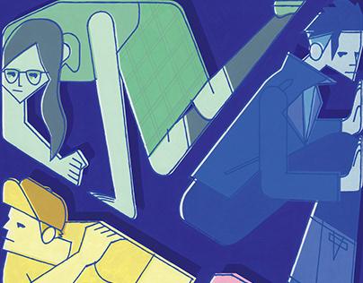 Cover illustraiton for Mystery Novel.