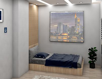 Bedroom- İnterior Design ( V-ray 4.2 for Sketch-up)