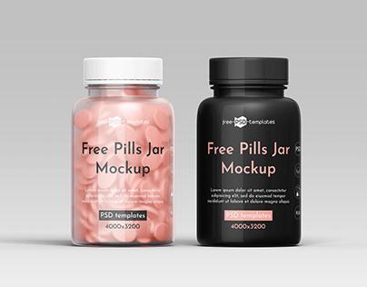 FREE Pills Jar MOCKUP