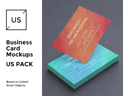 UK Business Cards Mock-up's Pack