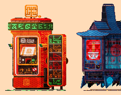 Cyberpunk vending machines II