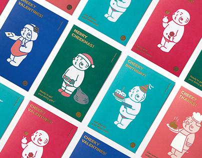 cheeky cheeky 厚面子 Greeting Cards