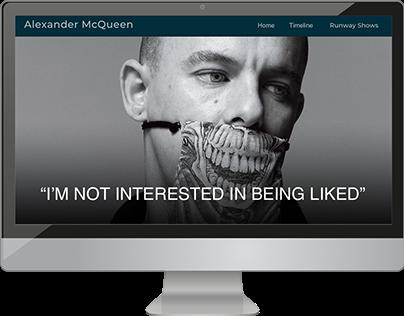 Alexander McQueen Website Design