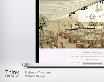 Esslemont Marquees Website