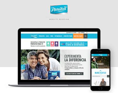 Plenitud - Website redesign