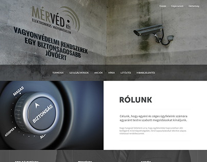 MérVéd webdesign plan