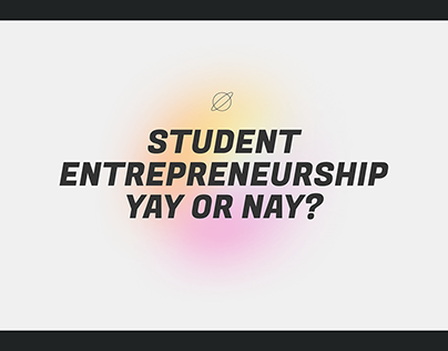 Student Entrepreneurship | Minimal Design