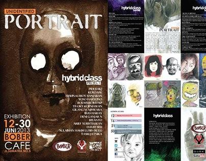 "Hybridclass Art Project ""Unidentified Portrait"" exhbtn"