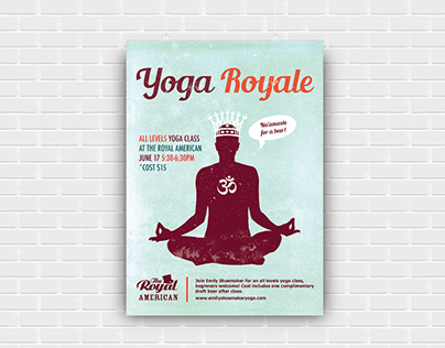 Poster Design for Yoga Event