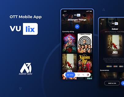 VUlix - OTT App Concept