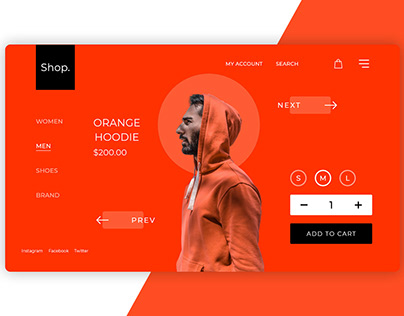 Hoodie Shopping Page