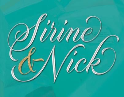 Sirine and Nick Wedding Logo