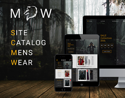 Site Catalog of the menswear. Clothing store. Free
