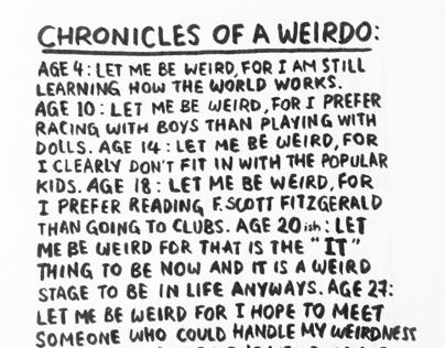 Chronicles of a Weirdo