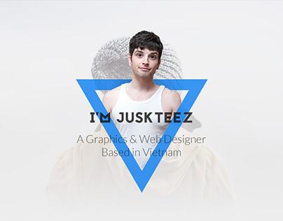 Personal One Page Portfolio Design