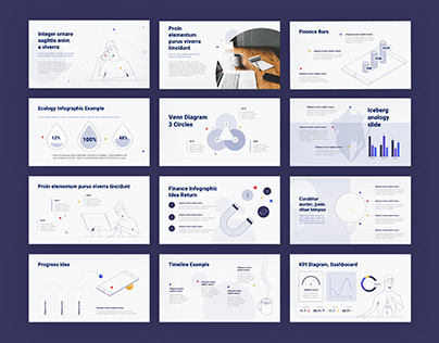Info-graphic Startup Presentation Template